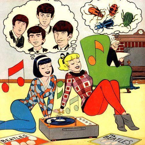 Betty & Veronica dig the Beatles.